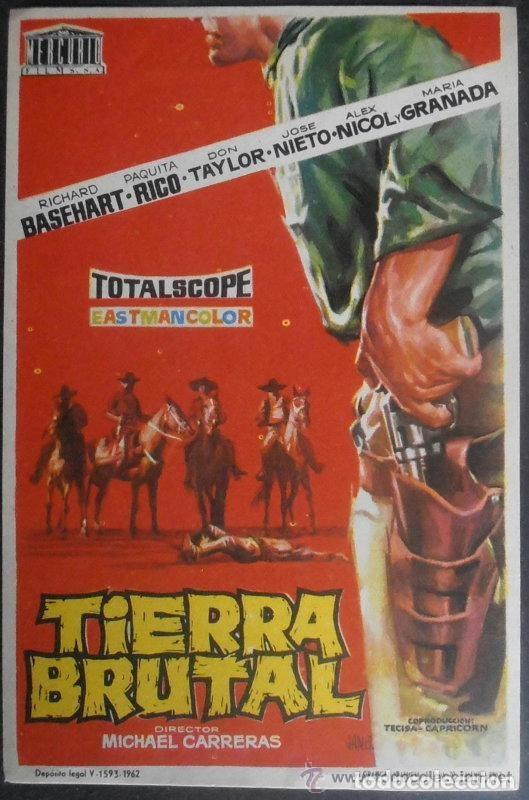 TIERRA BRUTAL (Cine - Folletos de Mano - Westerns)