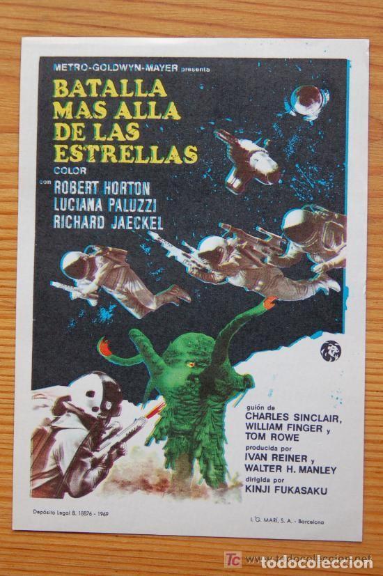 BATALLA MAS ALLA DE LAS ESTRELLAS (Cine - Folletos de Mano - Ciencia Ficción)