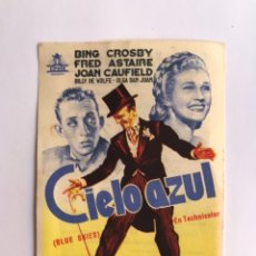 Cine: CINE HOLLYWOOD, ALBALAT DE LA RIBERA, FOLLETO DE MANO.. FRED ASTAIRE, BING CROSBY EN CIELO AZUL. Lote 213721622