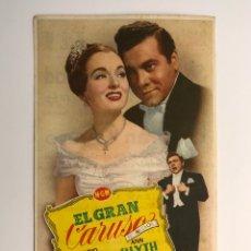 Cine: CINE HOLLYWOOD ALBALAT DE LA RIBERA, FOLLETO DE MANO, EL GRAN CARUSO, CON MARIO LANZA (H.1945?). Lote 213753808