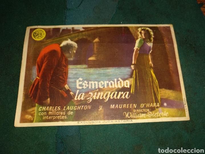 PROGRAMA DE MANO ESMERALDA LA ZÍNGARA (Cine - Folletos de Mano - Drama)