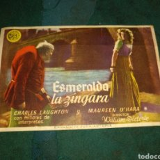 Cine: PROGRAMA DE MANO ESMERALDA LA ZÍNGARA. Lote 213880188