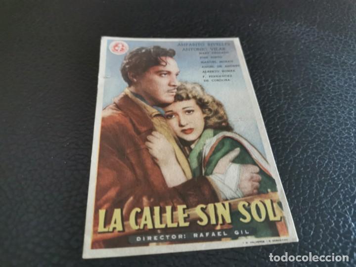 PROGRAMA DE MANO ORIG - LA CALLE SIN SOL - CINE CRISTINA (Cine - Folletos de Mano - Clásico Español)