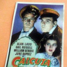 Flyers Publicitaires de films Anciens: PROGRAMA DE CINE - CALCUTA - CINE TÍVOLI. Lote 214028157