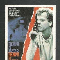 Cine: PROGRAMA DE CINE DE MANO PELICULA TIEMPO DE MATAR. Lote 214072382