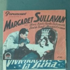 Cine: VIVIENDO EN LA LUNA - PROGRAMA DOBLE DE MANO.. Lote 214135453