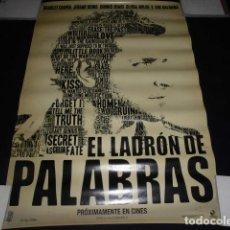 Cine: EL LADRON DE PALABRAS - POSTER O CARTEL DE CINE. ORIGINAL DE LA PELICULA.. Lote 214177606