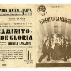 Cine: CAMINITO DE GLORIA, CON LIBERTAD LAMARQUE.. Lote 214222421