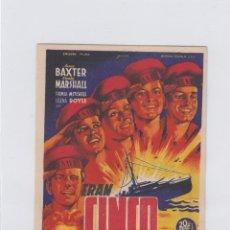 Cine: ERAN CINCO HERMANOS. PROGRAMA DE CINE. SENCILLO CON PUBLICIDAD.CINE AVENIDA. VILLANUEVA DE LA SERENA. Lote 214255285