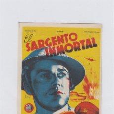 Cine: EL SARGENTO INMORTAL. PROGRAMA DE CINE. SENCILLO CON PUBLICIDAD. CINE MARI. LEÓN.. Lote 214255477