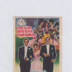 Cine: HORAS DE ENSUEÑO. PROGRAMA DE CINE. SENCILLO CON PUBLICIDAD. CINE POPULAR. SAN HIPÓLITO DE VOLTREGÁ.. Lote 214257586