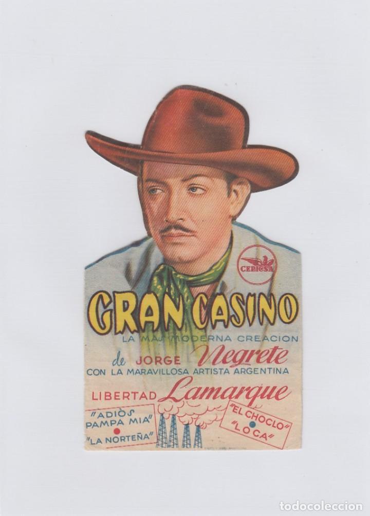 GRAN CASINO. PROGRAMA DE CINE. TROQUELADO CON PUBLICIDAD A TAMPÓN. (Cine - Folletos de Mano - Musicales)