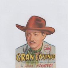 Cine: GRAN CASINO. PROGRAMA DE CINE. TROQUELADO CON PUBLICIDAD A TAMPÓN.. Lote 214258103