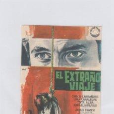 Cine: EL EXTRAÑO VIAJE. PROGRAMA DE CINE. SENCILLO CON PUBLICIDAD. CINE SAN JUAN BOSCO. SEVILLA.. Lote 214259490