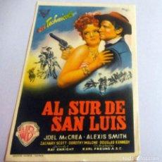 Cine: PROGRAMA DE CINE - AL SUR DE SAN LUIS - CINE CARMEN - PALAMÓS -. Lote 214274183