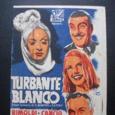 Cine: TURBANTE BLANCO, ADRIANO RIMOLDI, CINE VILLAMARTA, 1945. Lote 214290338