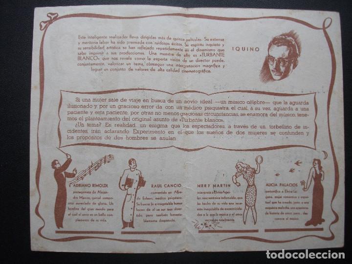 Cine: TURBANTE BLANCO, ADRIANO RIMOLDI, CINE VILLAMARTA, 1945 - Foto 2 - 214290338