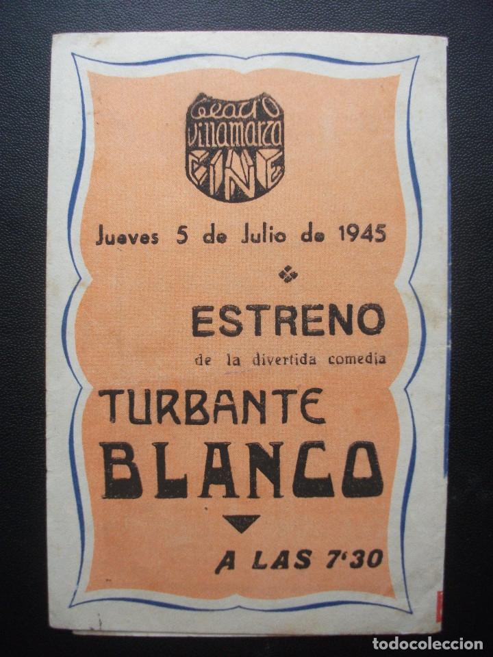 Cine: TURBANTE BLANCO, ADRIANO RIMOLDI, CINE VILLAMARTA, 1945 - Foto 3 - 214290338