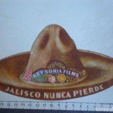 Cine: PROGRAMA CINE TROQUELADO: JALISCO NUNCA PIERDE - CINE DORADO AÑO 1941. Lote 214293908