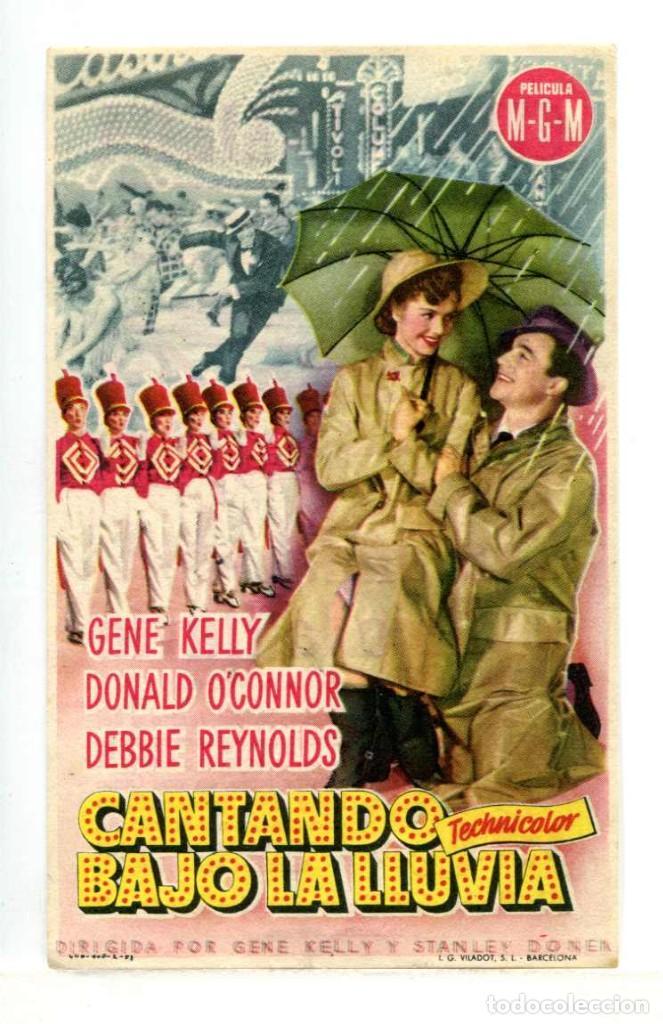 CANTANDO BAJO LA LLUVIA, CON GENE KELLY. (Cine - Folletos de Mano - Musicales)