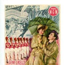 Foglietti di film di film antichi di cinema: CANTANDO BAJO LA LLUVIA, CON GENE KELLY.. Lote 214304058