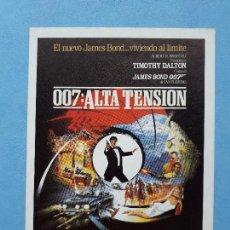 Cine: 007: ALTA TENSIÓN. TIMOTHY DALTON.. Lote 214332760