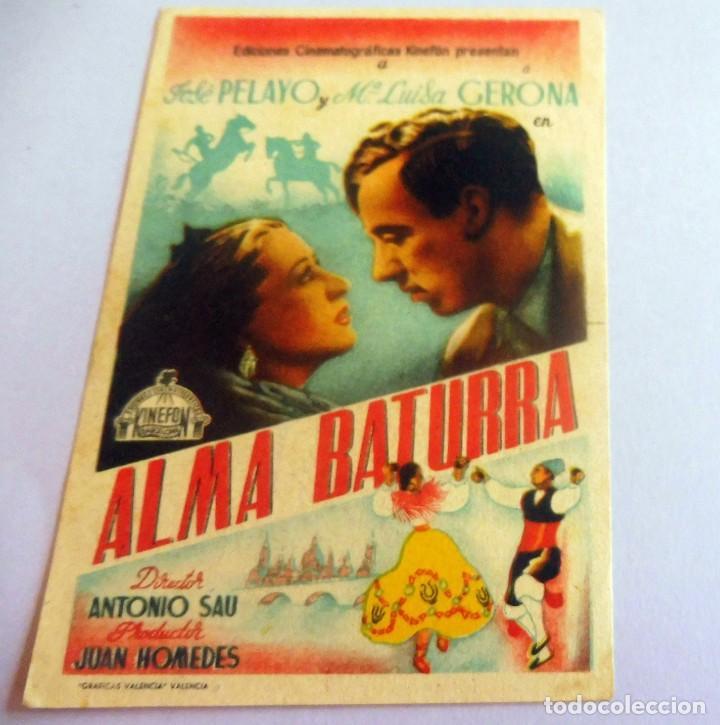 PROGRAMA DE CINE - ALMA BATURRA - S/P (Cine - Folletos de Mano - Clásico Español)