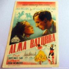 Cine: PROGRAMA DE CINE - ALMA BATURRA - S/P. Lote 214356265