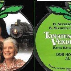 Cine: PROGRAMA DE CINE DOBLE * TOMATES VERDES FRITOS * TROQUELADO AÑO 1992. Lote 214371258