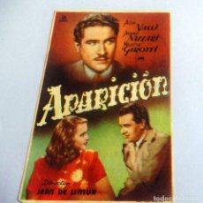 Flyers Publicitaires de films Anciens: PROGRAMA DE CINE - APARICIÓN - CINE JEREZANO (1948). Lote 214379963