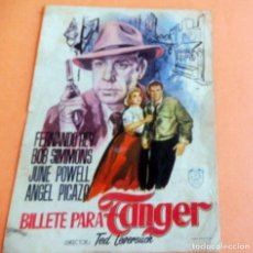 Cine: PROGRAMA DE CINE - BILLETE PARA TANGER - CINE DORADO (19559. Lote 214525671