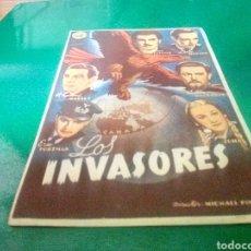 Flyers Publicitaires de films Anciens: PROGRAMA DE CINE SIMPLE. LOS INVASORES. Lote 214547798