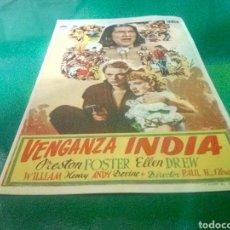 Cine: PROGRAMA DE CINE SIMPLE. VENGANZA INDIA. Lote 214548252