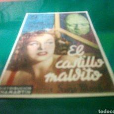 Cine: PROGRAMA DE CINE SIMPLE. EL CASTILLO MALDITO. Lote 214548476