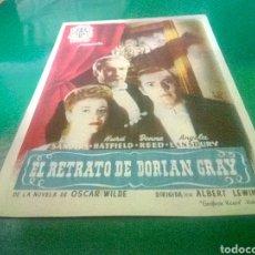 Cine: PROGRAMA DE CINE SIMPLE. EL RETRATO DE DORIAN GRAY. Lote 214550692