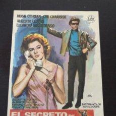 Cine: FOLLETO DE MANO EL SECRETO DE BILL NORTH. Lote 214782888