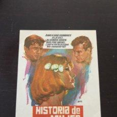 Cine: FOLLETO DE MANO HISTORIA DE UNA MUJER. Lote 214784710