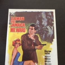 Cine: FOLLETO DE MANO LLAMAN DE JAMAICA MR. WARD. Lote 214785671
