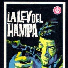 Cine: LA LEY DEL HAMPA. Lote 215051240