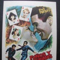 Flyers Publicitaires de films Anciens: PUÑOS Y LÁGRIMAS, ELVIS PRESLEY. Lote 215131143