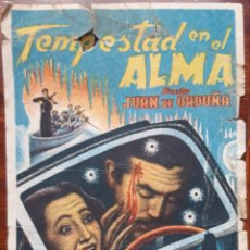 Cine: FOLLETO PELÍCULA TEMPESTAD EN EL ALMA. IDEAL CINEMA VITORIA. Lote 215147120