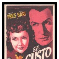 Flyers Publicitaires de films Anciens: FOLLETO DE MANO, EL SUSTO, VINCENT PRICE, LYNN BARI, FRANK LATIMORE Y DEMAS.. Lote 215182440