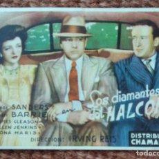 Flyers Publicitaires de films Anciens: LOS DIAMANTES DEL HALCON - CINE PALACIO - VALENCIA. Lote 215355091