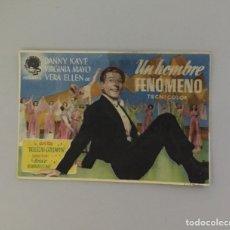 Flyers Publicitaires de films Anciens: PROGRAMA DE MANO CINE ANTIGUO 1945. UN HOMBRE FENÓMENO. CINEMA GOYA ZARAGOZA. Lote 215390453
