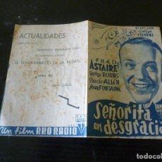 Flyers Publicitaires de films Anciens: PROGRAMA DE CINE IMPRESO EN LA PARTE TRASERA. Lote 215658887