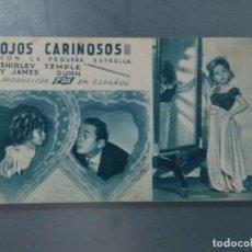 Flyers Publicitaires de films Anciens: OJOS CARIÑOSOS. PROGRAMA SENCILLO EN FORMA DE TARJETA.. Lote 215716067