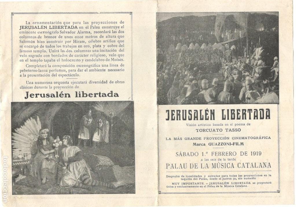 JERUSALÉN LIBERTADA - 1919 - PALAU DE LA MUSICA - GUAZZONI FILM (Cine - Folletos de Mano - Acción)
