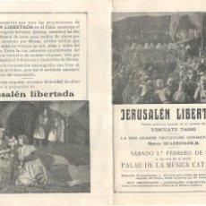 Cine: JERUSALÉN LIBERTADA - 1919 - PALAU DE LA MUSICA - GUAZZONI FILM. Lote 215774210