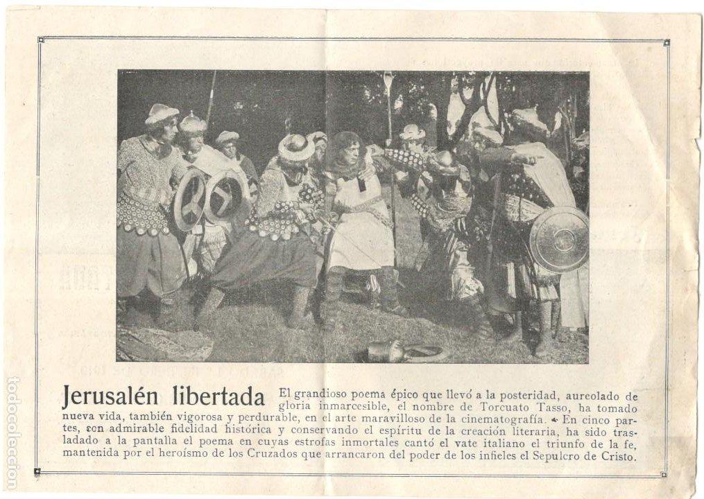 Cine: JERUSALÉN LIBERTADA - 1919 - PALAU DE LA MUSICA - GUAZZONI FILM - Foto 2 - 215774210