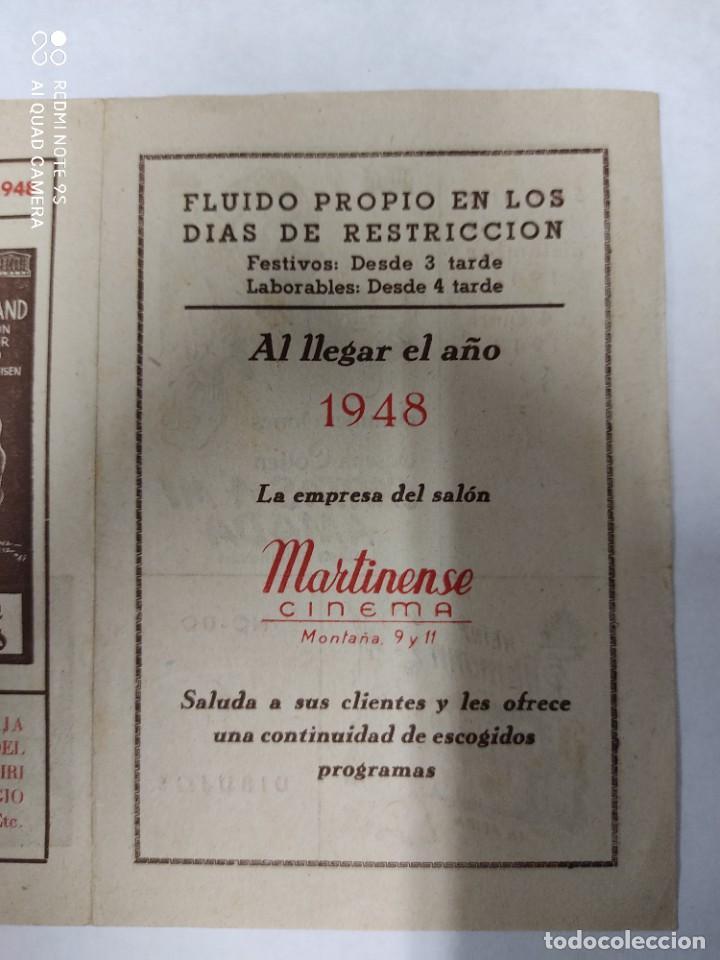 Cine: CINEMA MARTINENSE BARCELONA.SEMANA DE CINE FOLLETO.AÑO 1948.LA GITANA Y REY,AY QUE LULU.. - Foto 2 - 215829863
